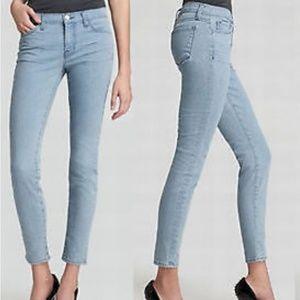 "J Brand Light ""Beaut"" Blue Midrise Skinny Jeans"